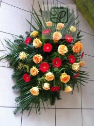 Palma pogrzebowa z róży i gerbery