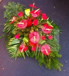 Palma pogrzebowa z Róży i Anturium