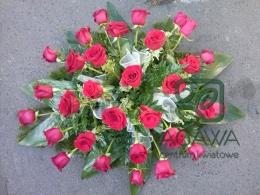 Palma pogrzebowa z czerwonej Róży