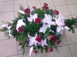 Palma pogrzebowa z Lilii i Róży