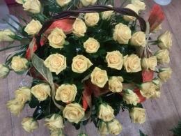 Kosz z 50 Róż
