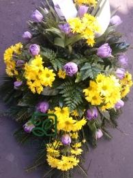 Palma Pogrzebowa z Tulipana i Margaretki