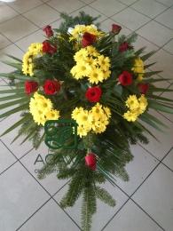 Palma pogrzebowa z Róży i Margaretki