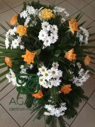 Palma pogrzebowa z Róży i Margaretki.