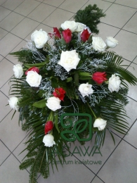 Palma pogrzebowa z Róży i Tulipana