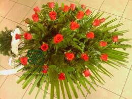 Palma pogrzebowa z Róży czerwonej