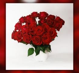 25 czerwonych róż