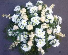 Palma pogrzebowa z Róży, Margaretki i Lewkonii