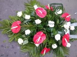 Palma pogrzebowa z Anturium i Róży